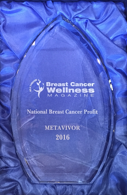 METAvivor Named National Breast Cancer Nonprofit of the Year